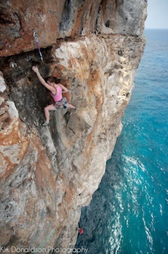 Photo published in Climb and Rock magazines